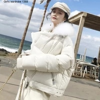sheep cashmere 2020 winter new lightweight white duck down short stand collar warm and handsome show thin down jacket women