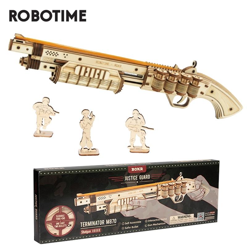 Robotime-مسدس بناء للأطفال ، مكعبات بناء ، ألعاب ، هدية عيد ميلاد