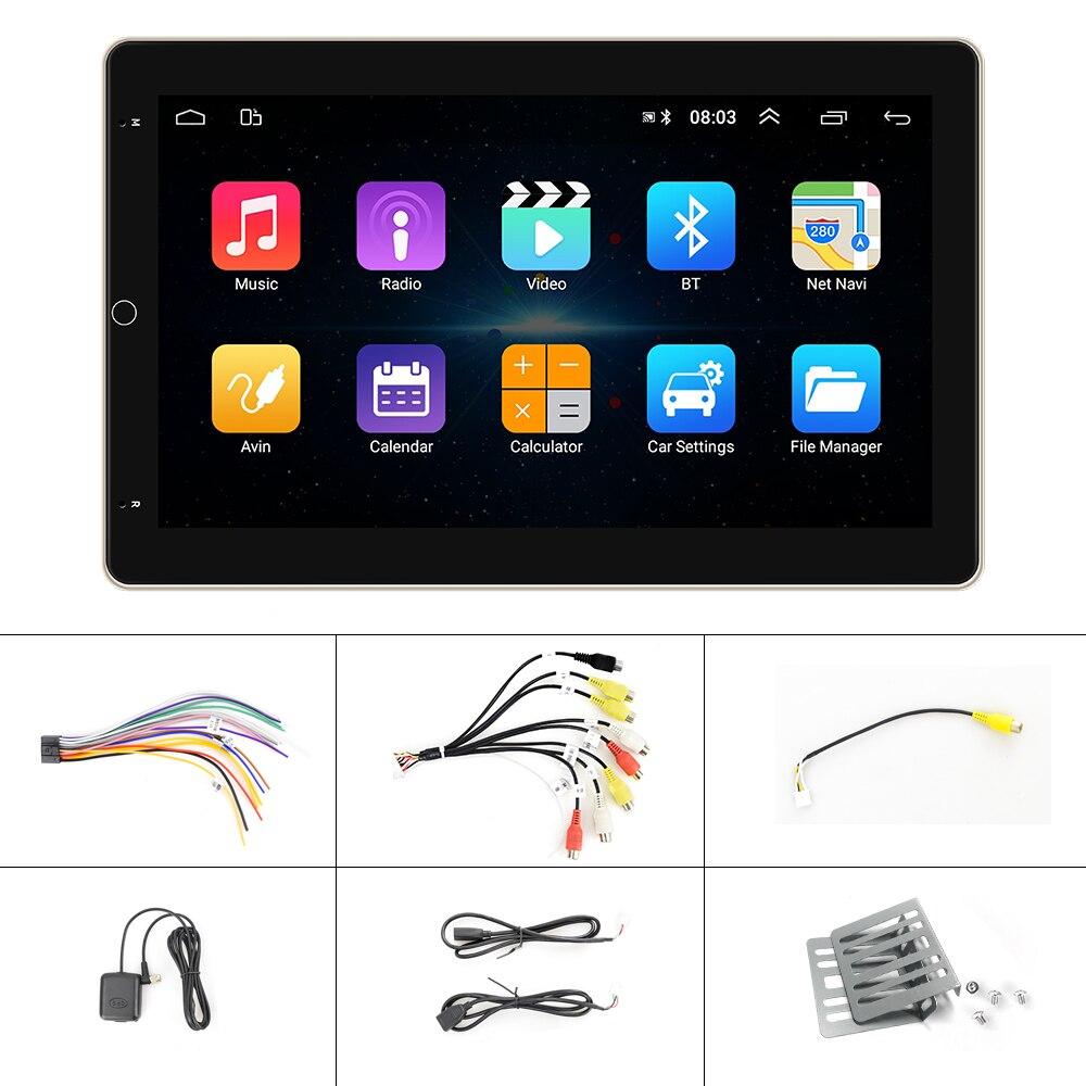 AMPrime 10''Android 9.1 Car Multimedia MP5 player 2 din Car Autoradio FM GPS Audio Stereo MP5 Player Radio SD USB 12V HD Player