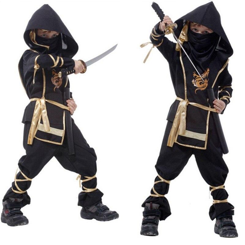 Sigilo Ninja traje de niños trajes asesino nocturna ropa enmascarado traje de Ninja Guerrero halloween del traje de Cosplay