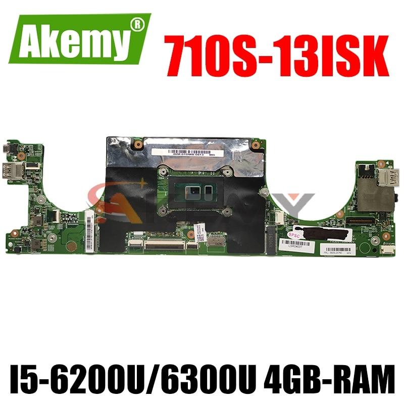 LS710 15238-1 اللوحة الأم لأجهزة الكمبيوتر المحمول لينوفو Ideapad Xiaoxin Air13 710S-13ISK اللوحة الرئيسية الأصلية I5-6200U/6300U 4GB-RAM 100% اختبار