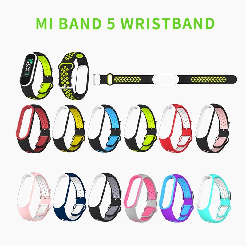 Mi Band 5 Strap Silicone Wristband Bracelet Mi 5 Smart Watches Miband 5 Accessories Sport Strap