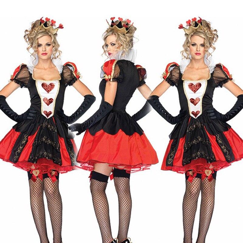 Déguisement Cosplay Halloween Alice au pays des merveilles la reine des coeurs déguisement mascarade reine rouge reine déguisement dhalloween adulte