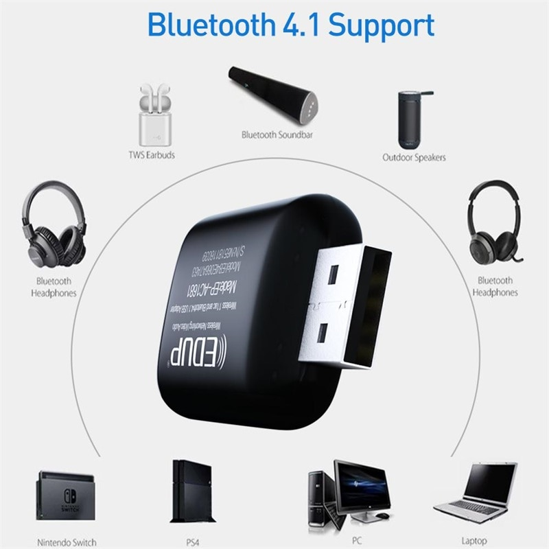 EDUP 1300Mbps USB WIFI Adapter Dual Band 2.4G/5Ghz Bluetooth 4.1 Mini Wireless Network Card for Laptop For Desktop For PC enlarge