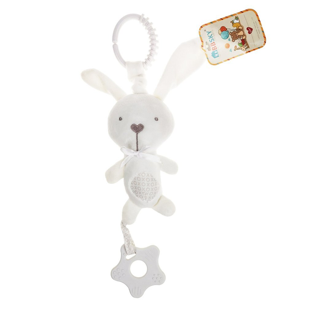 2021 Creative Cotton Baby Hand Rattle Stuffed Animal Baby Bell Teether Car Hanging Bell Mobile Baby Bed Tinker Bell Music Toy
