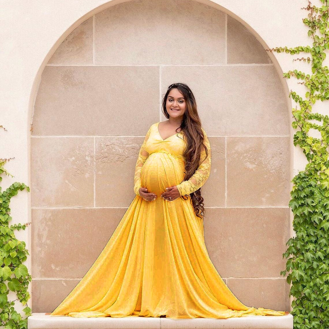 Maternity Maxi Dresses for Photo Shoot Long Sleeve Pregnant Women Baby Shower Sexy V Neck Long Pregnancy Dress Robe Grossesse enlarge
