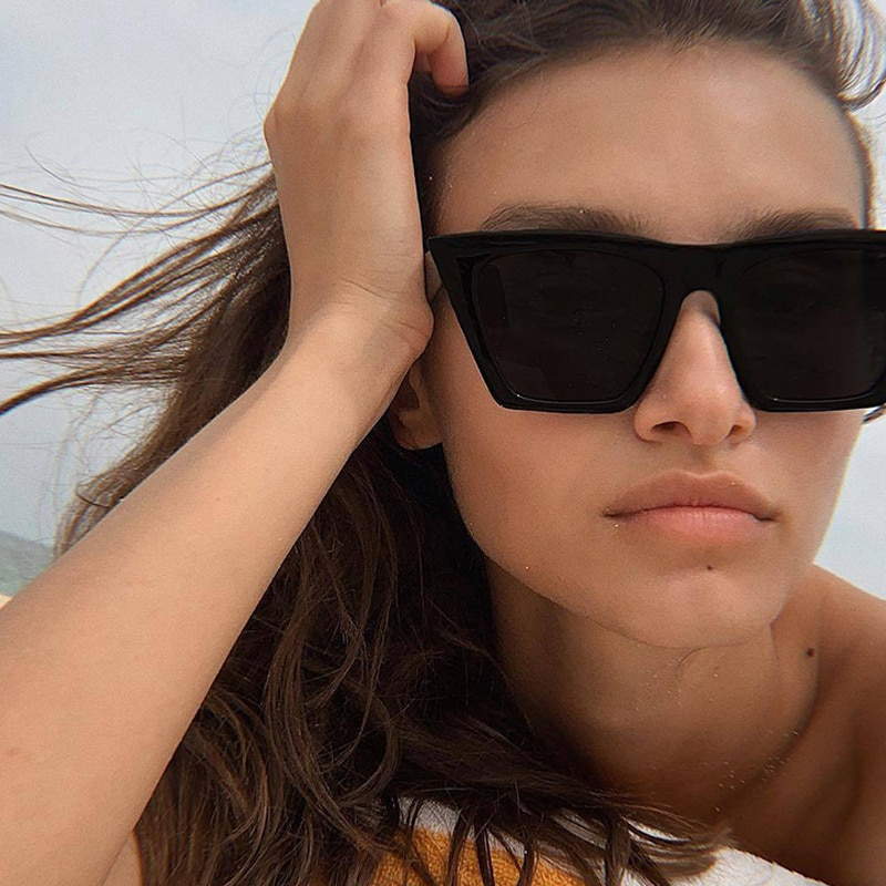 ZUEE 2021 Female Vintage Sunglasses Women Fashion Cat Eye Luxury Sun Glasses Classic Shopping Lady B