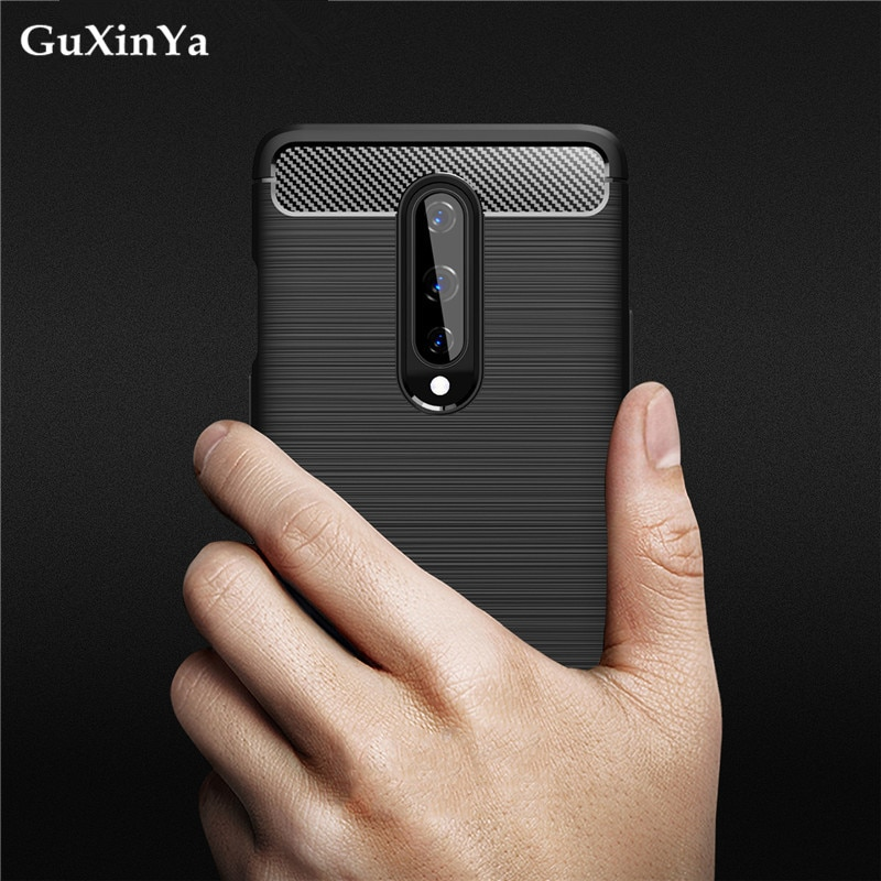 Phone Cases For Oneplus 8 Silicone Cover Protective Shell For Oneplus 8 Case Soft Carbon Fiber Back