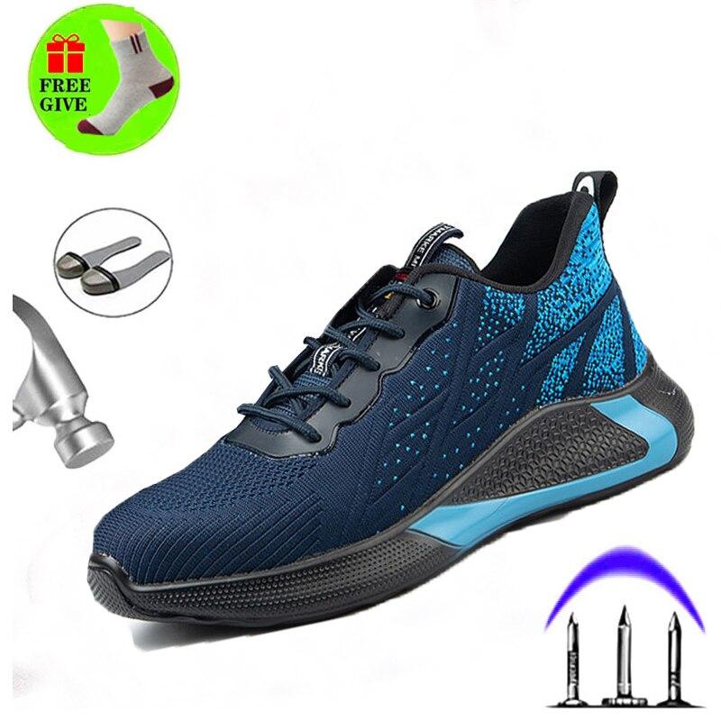 أحذية أمان الموضة ، أحذية رجالية ، أحذية عمل مضادة للثقب ، أحذية رياضية ، أحذية من الصلب ، حذاء برقبة للعمل للرجال ، أعمال البناء