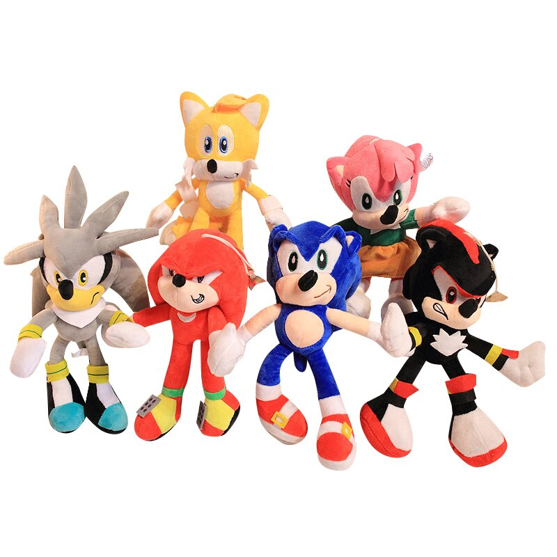 SIX Style 28cm Shadow Plush Toys Doll Black Blue Shadow Plush Soft Stuffed Toy for Kids Children Christmas Gifts