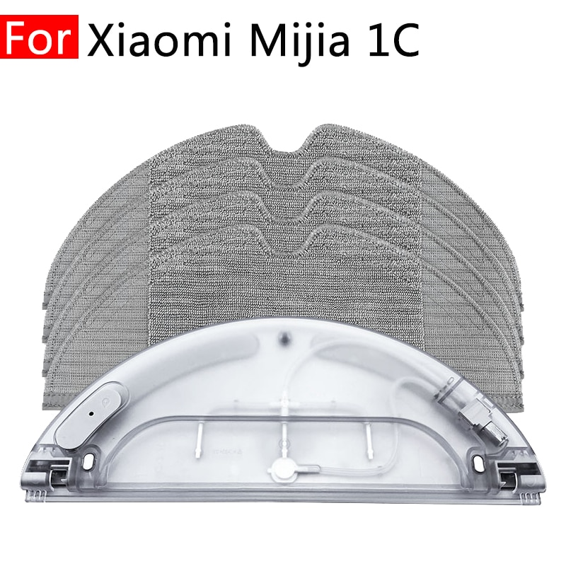 For Xiaomi Mijia Mi 1C Robot Vacuum Cleaner Home Attachment Replacement Mop Rag Water Tank Spare Parts Household Accessories