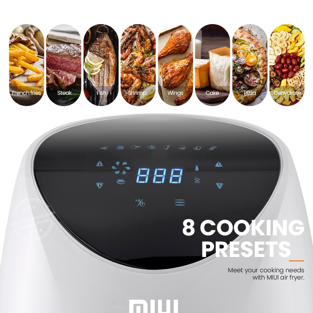 MIUI 4.6L Electric Air Fryer Oven MI-CYCLONE 360°Baking LED Touchscreen Deep Fryer without Oil Top Configurations Flagship