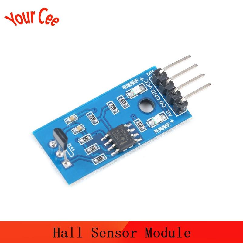 Módulo Sensor Hall, Sensor de velocidad de giro magnético, sensores de contador de detección 3144E A3144/OH3144/Y3144 3144 TO-92UA para coche DIY