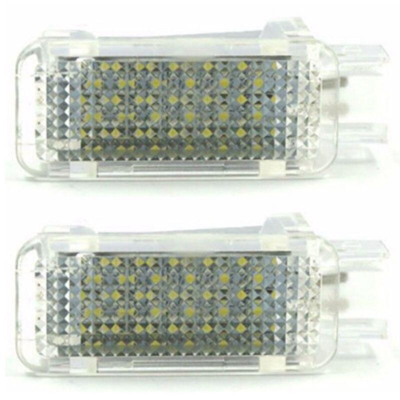 Luz Led para proyector de puerta de cortesía de coche para Audi A3/A4/A6/Vw/Skoda, luces para nido de pie, lámpara de luz de sombra fantasma 6500K blanco