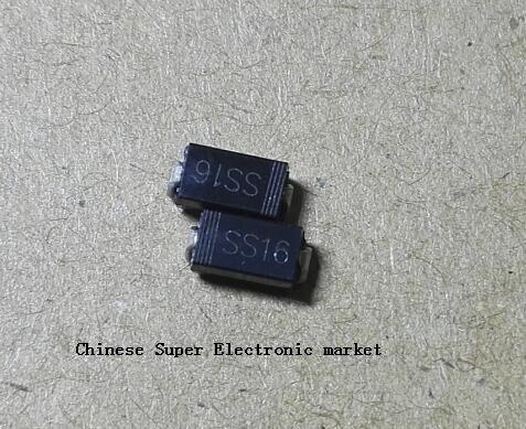 Diodo schottky de 100 pces ss16 sr160 1a/60 v DO-214AC smd sma