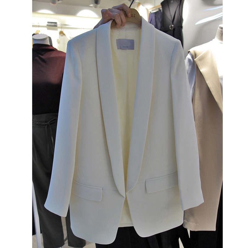 2021 New Trandy Long Sleeve Solid Blazer for Women Office Lay Streetwear Jacket Korean Style Coats