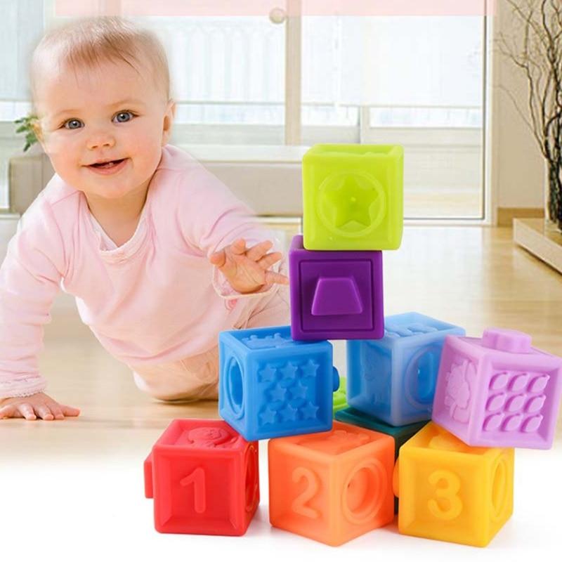 Baby Vinyl Squeeze Blocks Parent-child Interactive Enlightenment Bathing Toy enlarge