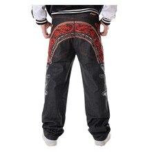 Sokotoo jean hip hop homme personnalité Cool broderie pantalon ample Denim streetwear pantalon long homme