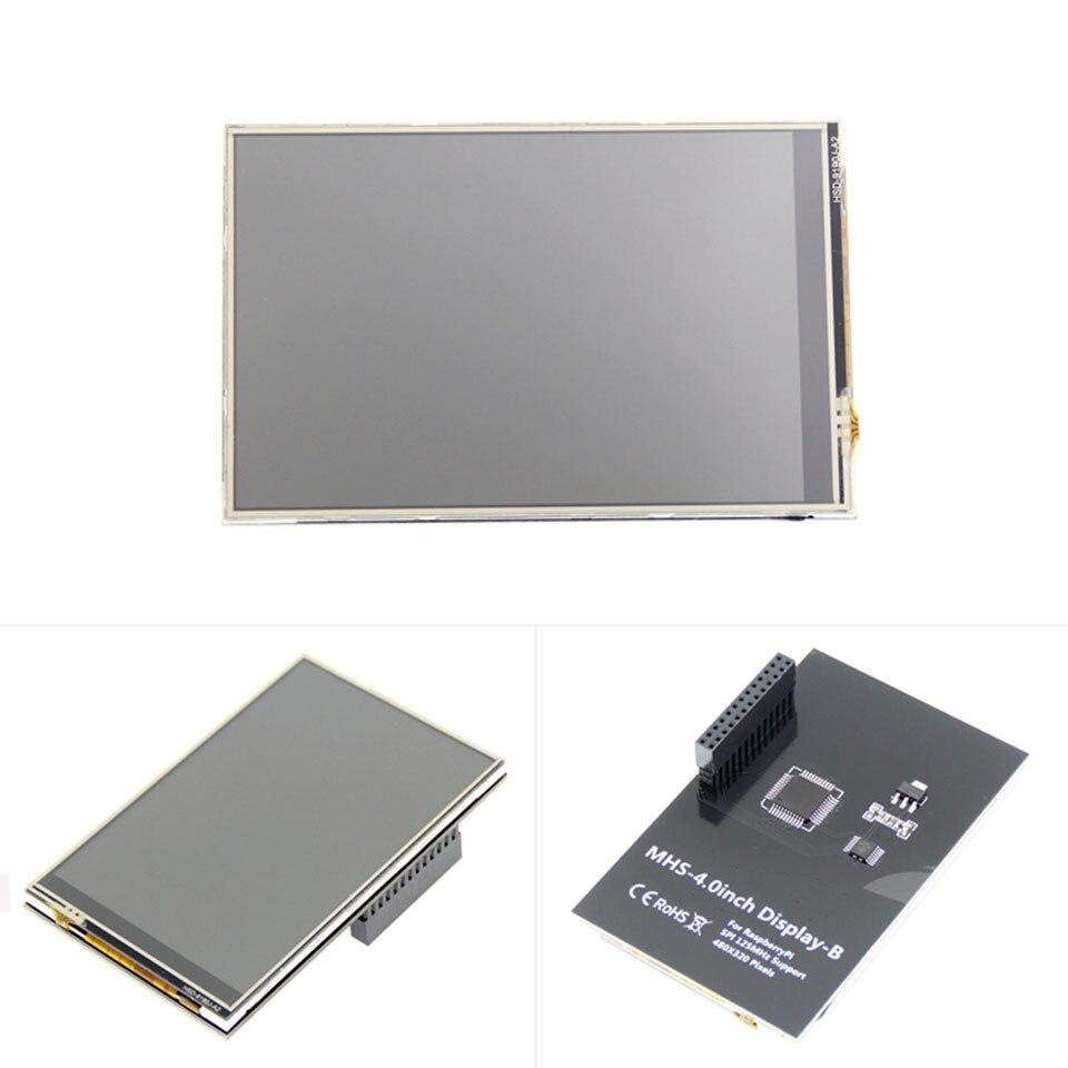 شاشة Raspberry Pi 3 B TFT تعمل باللمس مقاس 4.0 بوصة ، 125 ميجاهرتز ، SPI ، سرعة عالية ، فيديو لعبة سلس ، 50 إطارات/ثانية