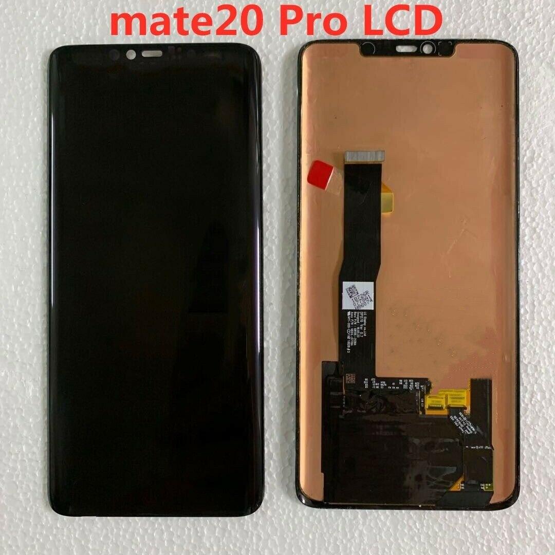 ЖК-дисплей для Huawei mate20 pro, оригинальный super AMOLED дисплей, сенсорный экран без рамки, без отпечатков пальцев, черная точка, экран в сборе