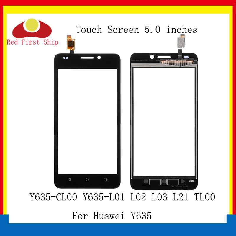 10 unids/lote pantalla táctil para Huawei Y635 Panel táctil de digitalizador de vidrio frontal exterior Y635-CL00 Y635-L01 L02 L03 pantalla táctil