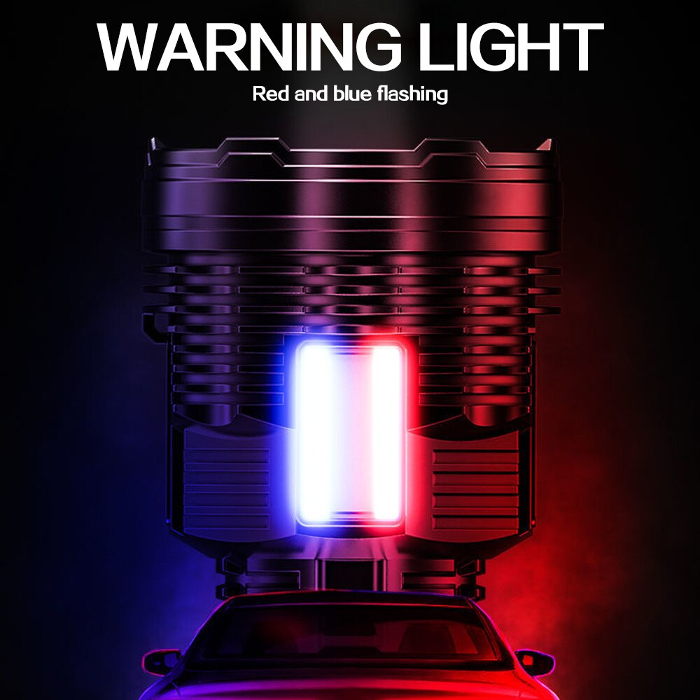 3* COB Side Light LED Flashlight Poratble Patrol Flashlight USB Rechargeable Torch Waterproof Security Flashlight with Strap enlarge