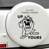 colorful russia bear quote car sticker creative auto decorative decals car door handle vinyl car body decals