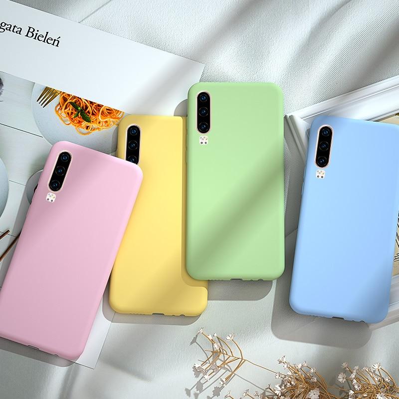 Карамельный цвет Honor 9X Премиум 8C чехол для huawei P20 Lite P30 mate 20 Lite 10 10i Honor 8X 8A 8S 20 PRO 20S View 20 чехол бампер
