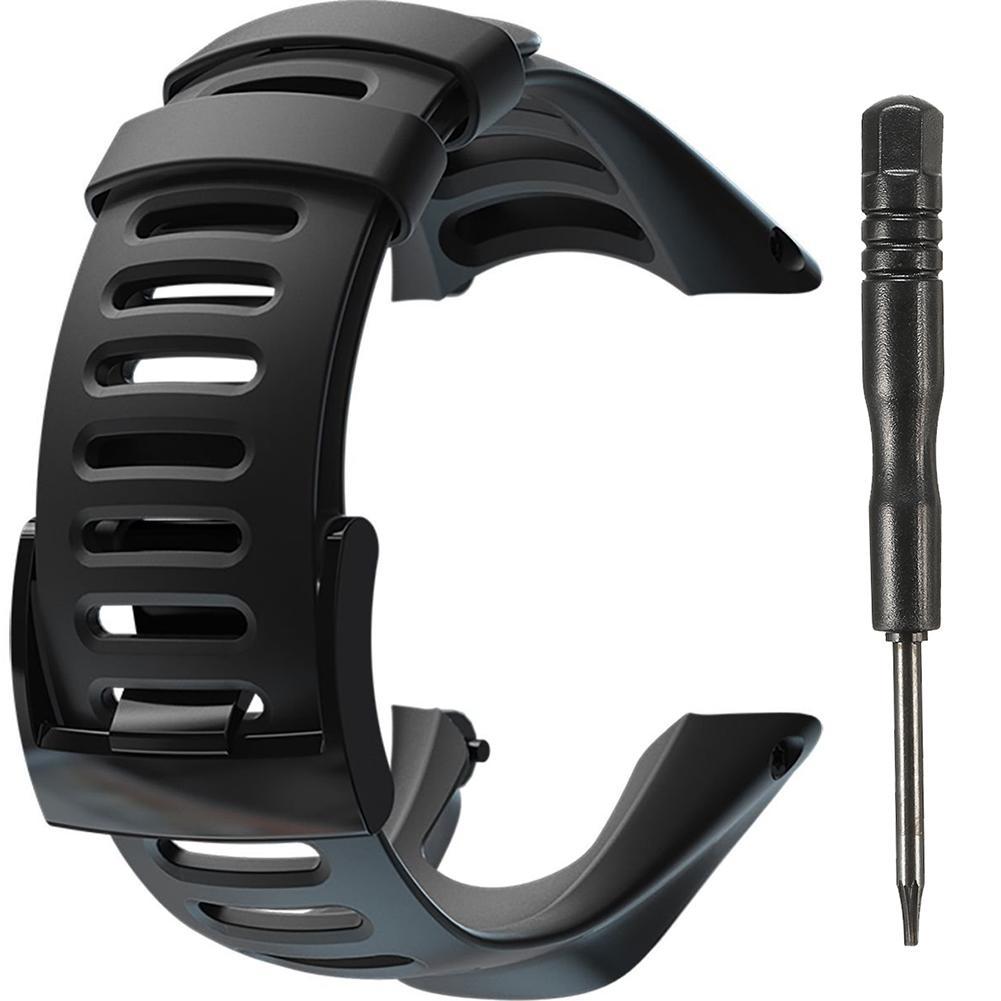 Correa de reloj de goma negra deportiva pulsera SS019474000 correa de reloj para supto AMBIT2 S rojo/AMBIT3
