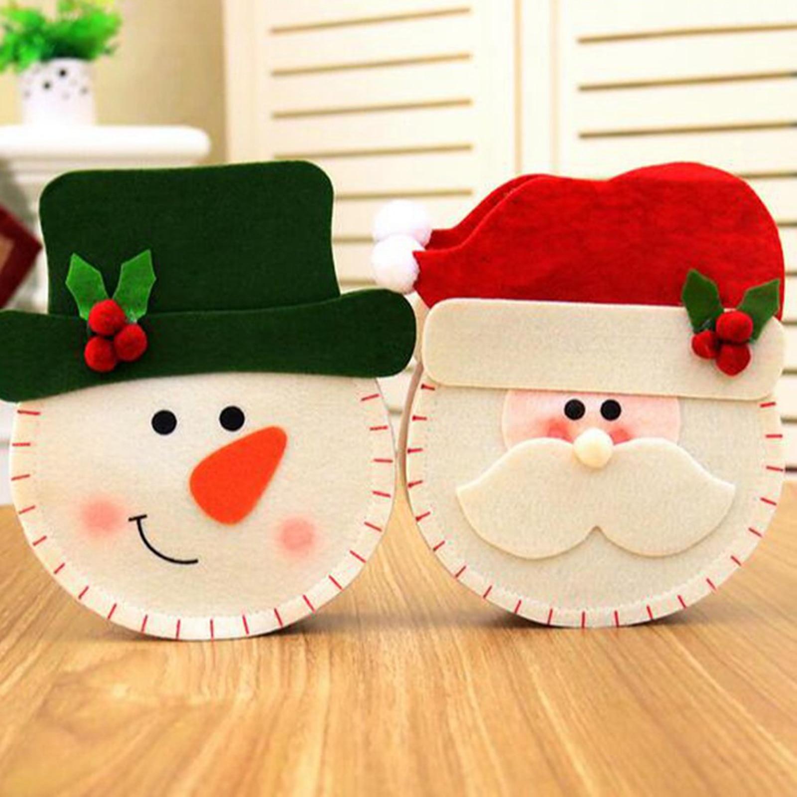 Christmas Creative Candy Bag Merry Christmas Non-woven Fabric Cute Cartoon Santa Claus Snowman Elk Handbag Hanging Bags