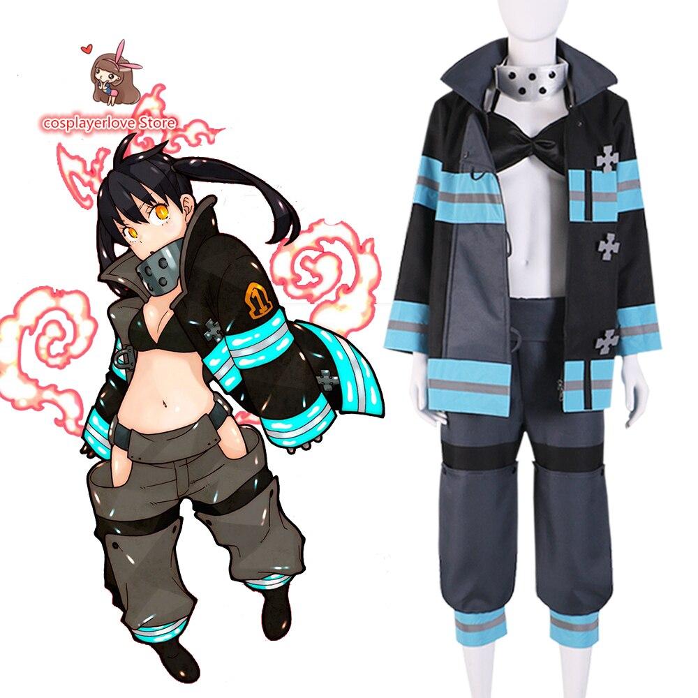 زي تنكري لـ Fire Force Enen No Shouboutai /Enn no Shouboutai Tamaki Kotatsu ، مصنوع حسب الطلب ، للهالوين والكريسماس