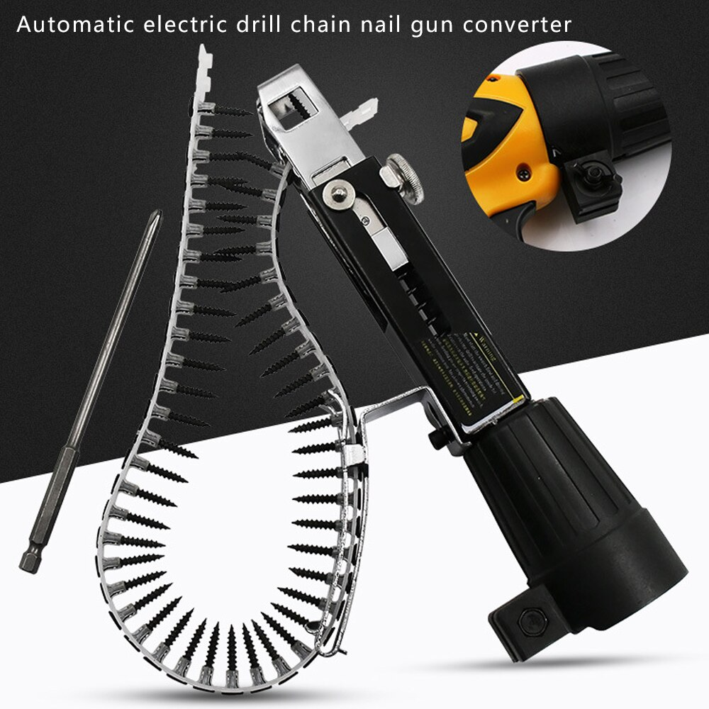 Electric Screw Gun Woodworking Tool Cordless Automatic Power Drill Attachment New enlarge