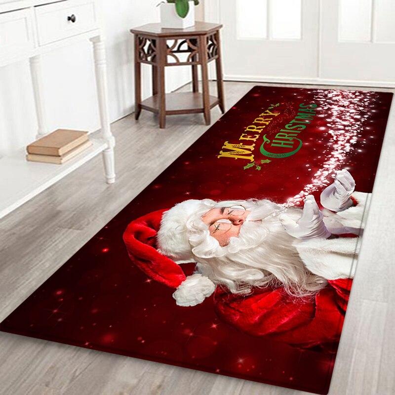 Рождественский декоративный коврик, коврики для домашнего декора, Нескользящие Коврики для гостиной, ванной, кухни, коврики для ванной, нап...