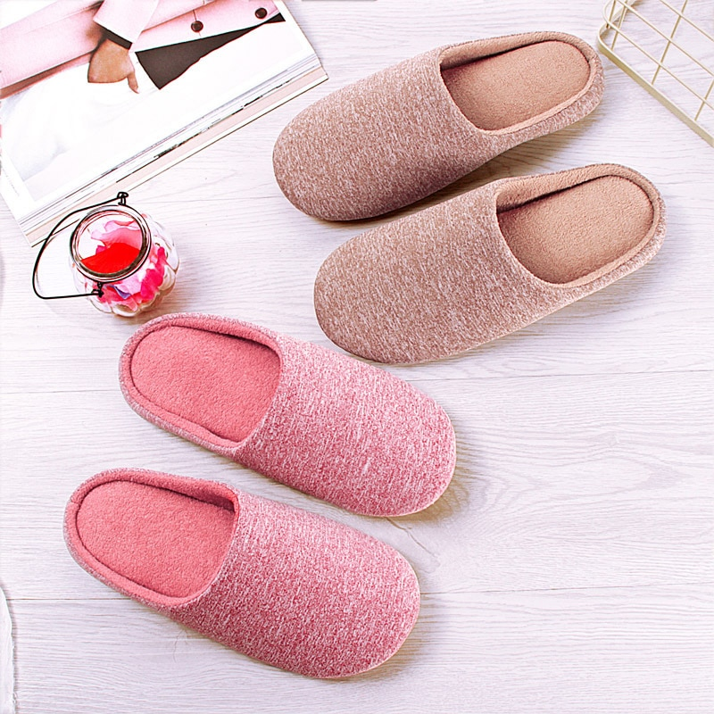 Winter Women Home Slippers Warm Shoes House Plush Soft Cute Cotton Slipper Flats Female Non-Slip Floor Furry Slides Plus Size 44