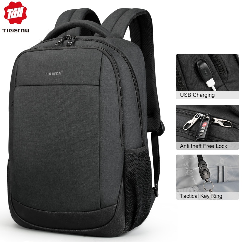 "Tigernu Brand USB Charging Male Backpack Anti theft  15.6""Laptop business Backpack Bag Women school bag Mochila for men"