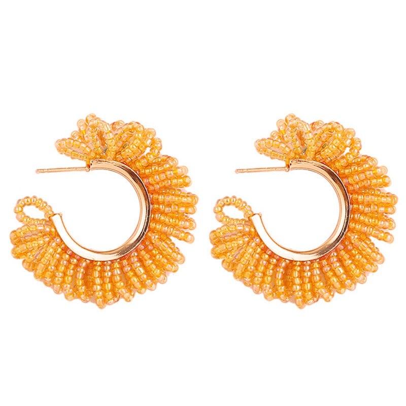 2020 feminino earings aretes brincos bohemia forma manual medidores grânulo brincos anel de orelha jóias e sul encantadores grânulos brinco