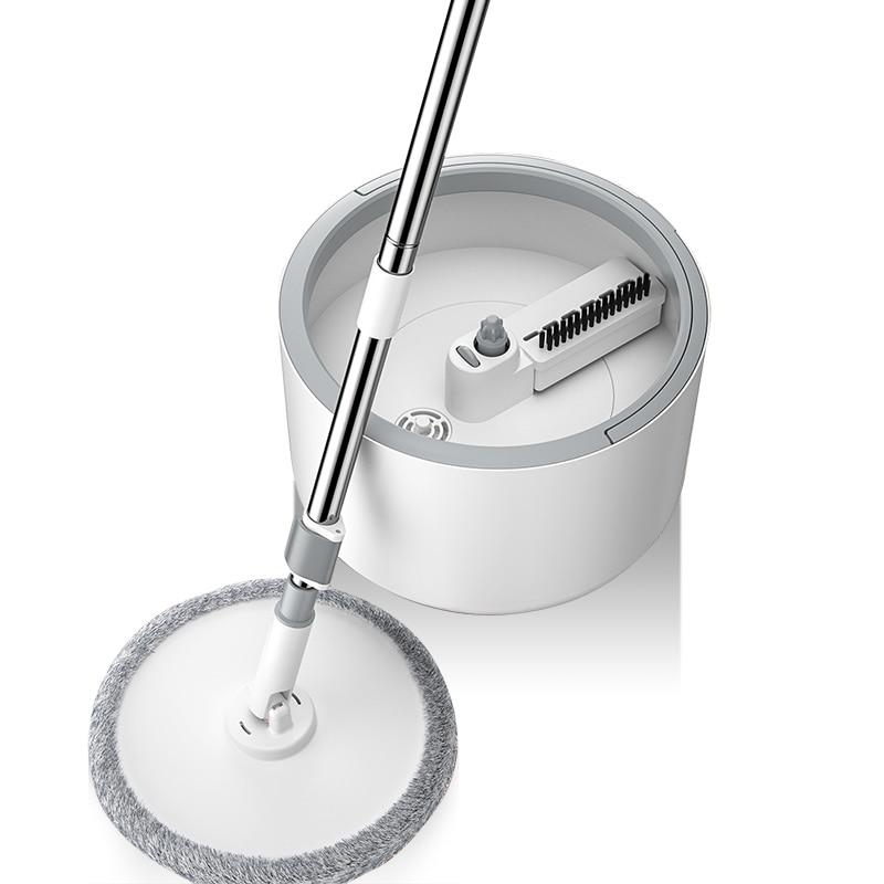 ماجيك ستوكات ممسحة مع دلو مستدير قابل للتعديل مقبض المنزلية مكنسة بلاط نظافة الكرتون تدفق نظام 360 أدوات تنظيف