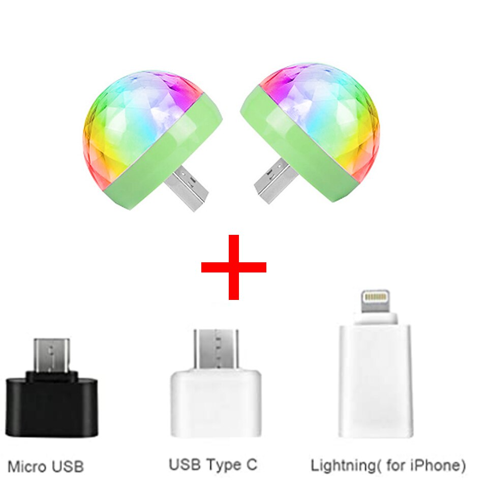 mini stage light 3w usb powered sound actived multicolor disco ball magic effect lamp for birthday party concert d Mini USB LED Disco Stage Light Portable Family Party DJ Magic Ball Light Bar Club Stage Effect Lamp for Mobile Phone