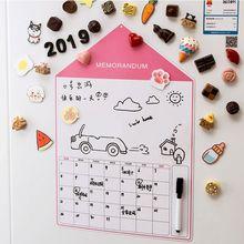 A3 Soft Magnetic Whiteboard Magnet Erase Board Drawing Refrigerator Calendar Pen X6HB