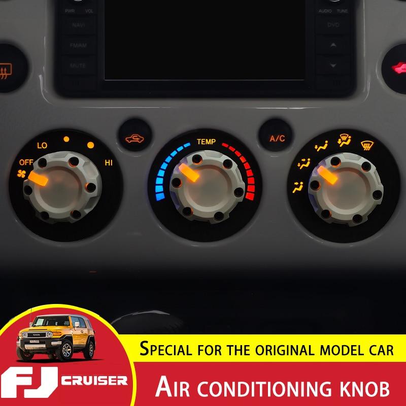 لتويوتا FJ كروزر تكييف الهواء مقبض تعديل FJ التحكم المركزي الديكور الداخلي كروزر تكييف الهواء زر