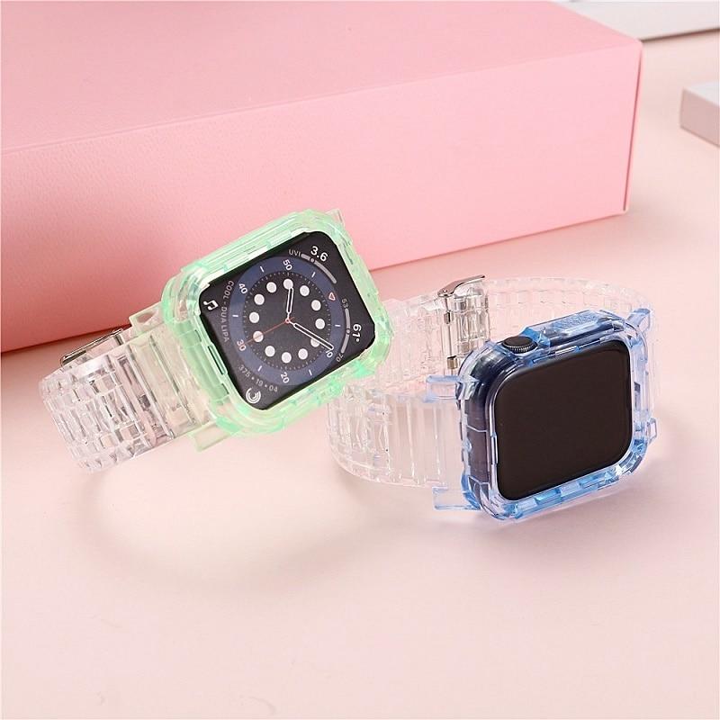 Цвет ледник ремешок подходит для наручных часов Apple Watch серии 6 5 4 3 2 Смарт ремешок 38 мм 40 мм 42 44 мм apple Watch ремень аксессуары ремешок для смарт часов eva ava001 для apple watch 38 мм розовый