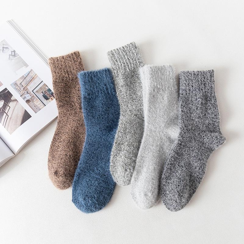 5 парт/Лот новые зимние мужские носки высокого качества толстые теплые шерстяные носки винтажные рождественские носки цветные носки подаро...