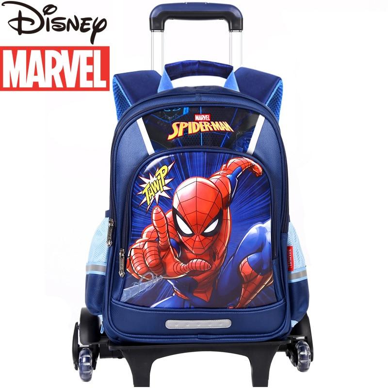 Disney Elementary School Trolley School Bag Marvel Captain America Children's School Bag