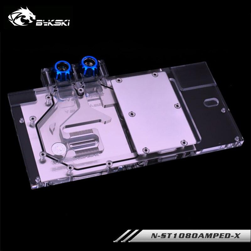 Enfriador Bykski GPU para ZOTAC GeForce GTX1080/1070TI/1070 AMP edición bloque de refrigeración de agua RGB / RBW N-ST1080AMPED-X de luz