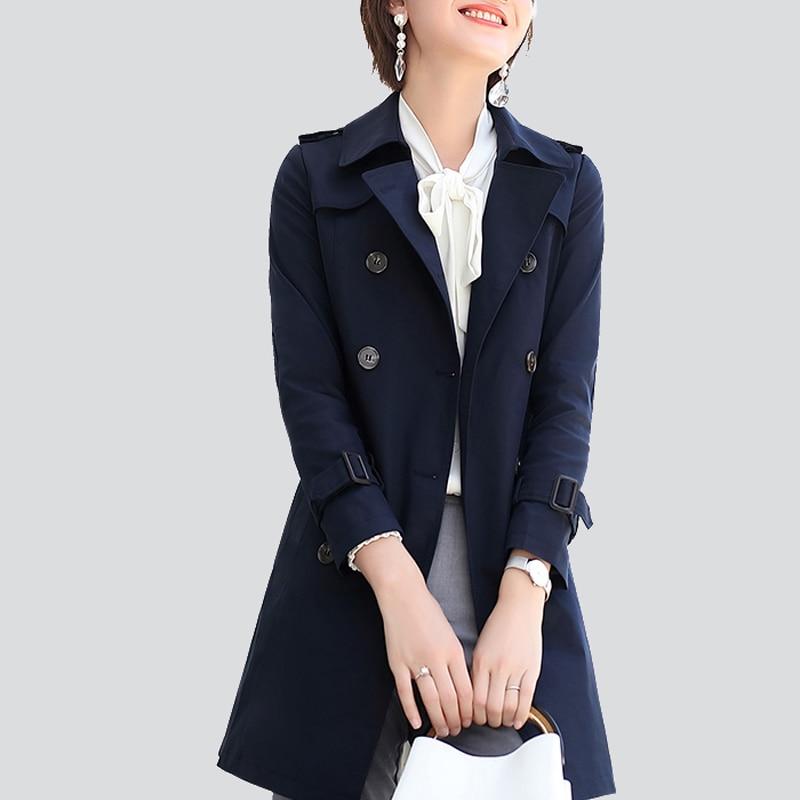 سترة المرأة سترة واقية مزدوجة الصدر إنجلترا 2020 سترة نسائية موضة جديدة عادية سليم عطلة الربيع/الخريف معطف