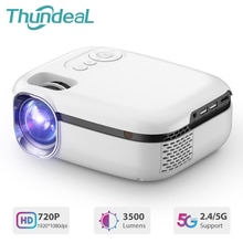 ThundeaL TD92 5G WiFi Mini Projector for 1080P Video Beamer Smart Phone Mirroring Airplay Portable H