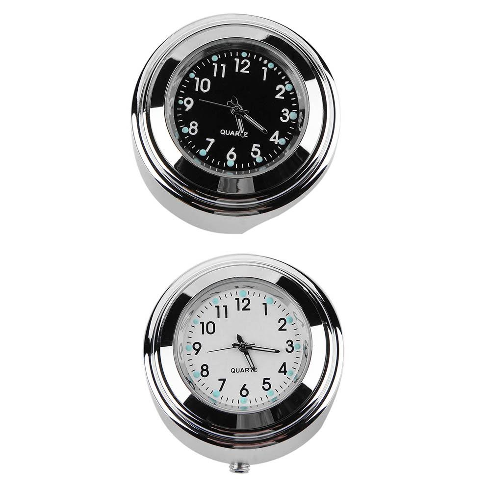 Aluminum Waterproof 22/25mm Motorcycle Handlebar Mount Dial Clock Quartz Watch for Harley Accessories