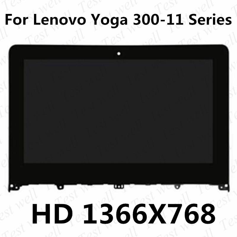 شاشة LCD تعمل باللمس مع حافة ، لجهاز Lenovo Yoga 300-11 Yoga 300-11IBR YOGA 300-11IBY 80M0007QGE 11.6 ، جديد