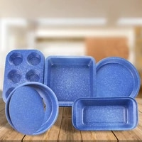carbon steel cake mold non stick baking box pizza baking plate baking pans blue color for bakeware cake tools