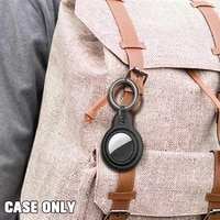 protective for airtags carbon fiber pattern for airtags keychain air tags cover hangable tracker locator a2k6